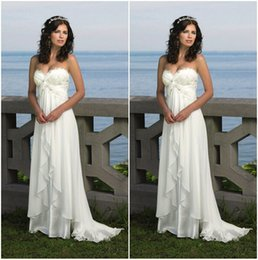 Wholesale Romantic Cheap Stock Beach Wedding Dress Formal Vestido De Noiva Sweetheart Applique Chiffon Sexy Bridal Gown Fast Delivery