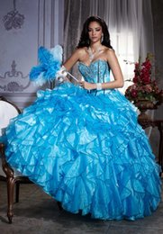 Wholesale Unique Organza Quinceanera Dresses Sweetheart Appliques Full Length Lace Up Debutante Ball Gowns Special Party Gowns