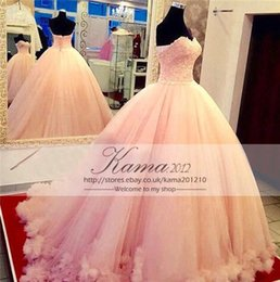 Wholesale 2015 Luxury Lace Ball Gown Quinceanera Dresses Sweetheart Cascading Ruffles Sweet Princess Dresses New Plus Size Vestidos de anos
