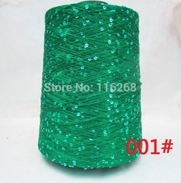Wholesale Yarn for knitting Paillette wool yarn sequin wool crochet hand thread Eco friendly sweater scarf tippet g t203