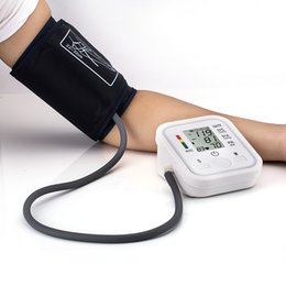 Wholesale Arm Blood Pressure Pulse Monitor Health care Monitors Digital Upper Portable Blood Pressure Monitor meters sphygmomanometer pc free ship