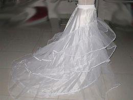 Wholesale In Stock Petticoats Wedding Underskirt Crinoline Long Train Hoop Layer Bridal Accessories Ball Gowns Evening dresses Petticoat