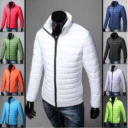 Wholesale New winter wadded jacket male short down cotton padded jacket design outerwear plus size clothe Fashion Men Keep Warm Coat Parkas