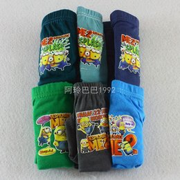 Wholesale Hottest Despicable Me Frozen Children Underwear Panties Kids Boys Girls Pure Color Cotton Briefs for Christmas Birthday Party Dress