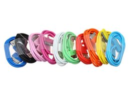 Wholesale Fashion New Style USB Data Sync Cable Charger Lead For iPod iPhone colors ship Shipping