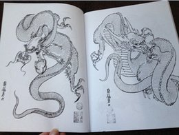 Wholesale 100 dragons Tattoo Designs Book by Horimouja Jack Mosher A4 Vol dragons Design Sketch Flash Tattoo Book