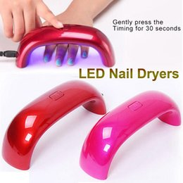 Wholesale Free DHL W Cute Nail Art Gel Nail Lamp LED UV Nail Lamp Nail Dryers USB Electric Curing Lamp Machine W Seconds Fast Dry Colorful