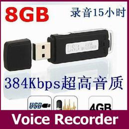 HTSK-868 USB MEMORY STICK Portable rechargeable 8 Go 16 Go HQ 650Hr Digital Audio Enregistreur vocal Pen Dictaphone noir 30pcs / lot