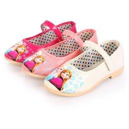 Wholesale 3 Color Frozen Baby Shoes Girls Favorite Cartoon PU Shoes Elsa Shoes Anna Shoes Children Fashion Shoes Kids Cute Shoes B001