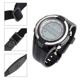 Wholesale Waterproof Outdoor Sports Wireless Heart Rate Monitor Fitness Exercise Cycling Calories Pedometer Watch with Chest Strap