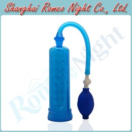 Wholesale Straight Power Pump Erection Enlarger Tool Soft Silicone Sleeves Inside Male Penis Pumps Sex Toys Audlt Products