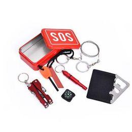 200 Наборы портативный аварийного оборудования SOS автомобильный комплект Землетрясение аварийные источники питания SOS Открытый кемпинга инструмент выживания для выживания По DHL