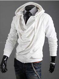 2015 моды кучи воротник дизайн прилив мужчин случайные личности Тонкий кардиган с капюшоном Останавливался свитер пальто. @ Ds238f