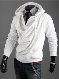 2015 fashion heap collier design marée hommes personnalité occasionnelle Slim Séjourné capuche manteau cardigan chandail. @ Ds238f