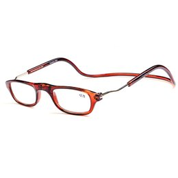 Wholesale Fashion Folding Magnets Magnifying Reading Glasses Magnetic Front Connect Unisex EyeglassesHang Folding Quality Reader oculos de grau