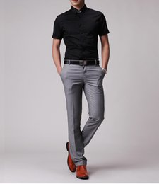 Mens slim fit bootcut dress pants