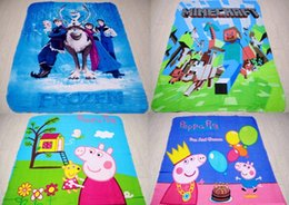 Wholesale 125 minecraft Nursery Bedding D Cartoon Frozen Blanket PEPPA PIG bedding Printed Soft Blanket Cool refreshing comfortable Blanket