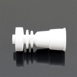 Domeless Ceramic Nail Fits to Both 14mm & 18mm with female Glass jonit vs GR2 Titanium Nail
