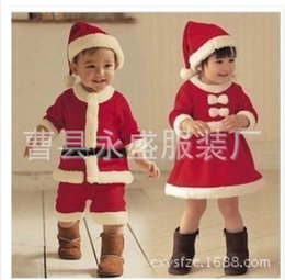 Wholesale Children s Halloween costume party costumes performance clothing for girls Christmas Santa Claus suit Kids Clothes