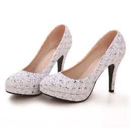 Wholesale Luxury Bride Wedding Shoes High heeled Lady Shoes Nightclub Prom Dresses Shoes Z239 Silver