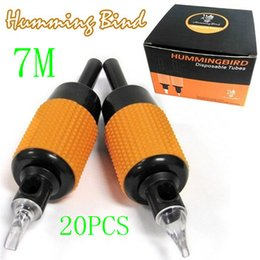 Wholesale 20x M Disposable Tattoo Grips Humming Bird Tube Sterilized quot mm Kits Machine Grips Top Grade
