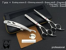 Wholesale 2015 New Arrial Hairdresser hair scissors set hair cutting scissors and hair thinning scissors professional salon use