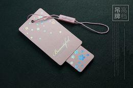 Wholesale Swing Tag Custom Hang Tag Garment Tag Spot Price Tag Printting High Quality DPN049