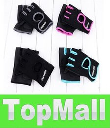 Wholesale JJ1277 New Cycling Fitness Sport Gloves GYM Half Finger Weightlifting Gloves Exercise Training Pair Good Quality