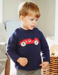 Wholesale Baby Boys Knit car sweaters fashion kids boy long sleeve knitting crochet jumper pullover