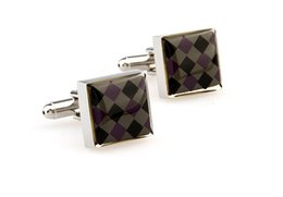 Wholesale New modern classic romantic cuff links square black gold man women Fashion Stainless Steel gift cufflinks