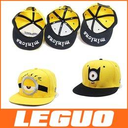 Wholesale Despicable Me Hat flat along the hip hop cap children hat