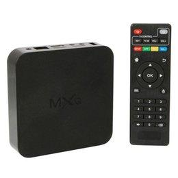 Envío libre original Quad Core MXQ Smart TV Box Android 4.4 Amlogic S805 Kodi 14,2 Fully Loaded Reproductor de Medios Actualización MX TV Box DHL más caliente