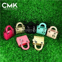 Wholesale CMK KB106 Strap colors PU leather Elegant Girls handbags Single Shoulder Mini Bag for Kids Handbag Children Bags Kid Handbags