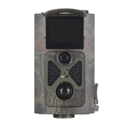 Piège photographique Trail de chasse 2 LCD120 degré Chargeur solaire et à distance 1080P HD 12MP caméras infrarouges Camouflage HC-100