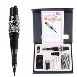Wholesale High quality Permanent Makeup Machine Kit Black Mosaic Tattoo Pen Power Tattoo Needles