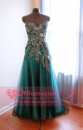 Wholesale Peacock Prom Dresses Sweetheart Beads Glitz Formal Floor Length Mix Color Vestidos Zipper Back Party Prom Gowns BO6750