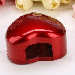 Wholesale Retail Portable Mini W LED Light Nail Dryer Heart Shaped Nail Art Curing Lamp Nail Care Machine for UV Gel Nail Polish