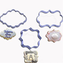 wholesale 4pcs lot european wedding frame metal cookie cutters biscuits stainless steel tools kitchen baking mould cheap metal frame moulding