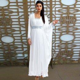 Wholesale Yun Xia Brand New White Kaftan Middle East Kaftan Muslim Abaya In Dubai Islamic Clothing For Women Muslim Dress Evening Dresses
