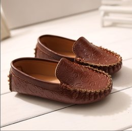 Wholesale 2015 Spring Autumn Children Casual Leather Shoes For Fashion Sneakers Hot Sale Good Quality Kids Boys Girls Loafers Shoes Retail TR180