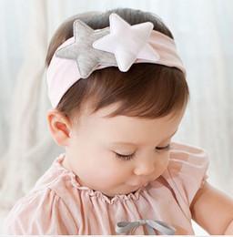 Wholesale Bebé vendas de algodón Acccessories vendas de chicas Prendas para la cabeza de los niños del bebé Fotografía Atrezzo NewBorn algodón de la estrella linda del pelo Accesorios A1B527