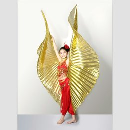 Wholesale 1pc belly dance isis wings belly dance wings bellydance accessories GOLD SILVER WHITE for children kids girls