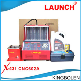 Discount panel chevrolet Factory Price Promotion!!100% Origninal Launch CNC602A CNC-602A Injector Cleaner and Tester With English Panel DHL Free Shipping
