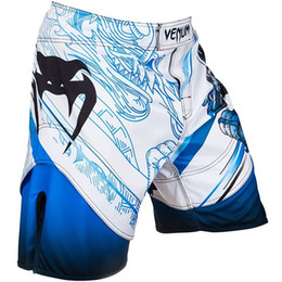 Wholesale XS S M L XL MMA Fight shorts Man dragon pattern shorts white black color