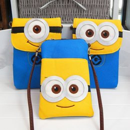 Wholesale Despicable ME Minions Movie plush minion Phone Bag Without Cover Storage New Fashion Phone Case Coin Bag