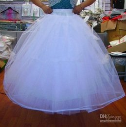 Wholesale Beautiful Bridal Gown Petticoat Petticoats Underskirt A Line For Dress And Gowns With Hoop