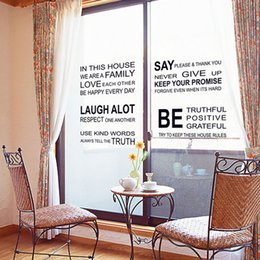 discount english design home decor hot sale fashion design family english proverbs pattern wall stickers room