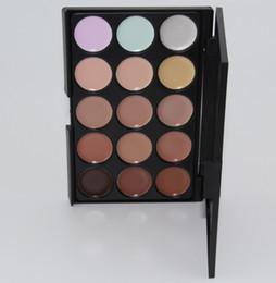 Profesional 15 colores corrector Fundación Crema Contorno Cara Paleta Maquillaje Herramienta Pro para Daily Partido Wedding Salon DHL libre