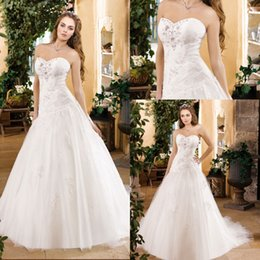 Wholesale 2014 Elegant Modern Wedding Dresses Long Trumpet White Tulle With Appliques Beaded Sweetheart Strapless Lace Up Women Bridal Gown FB042