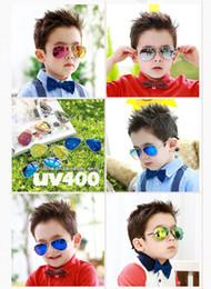 Wholesale For Kids Girls Boys Sunglasses Kids cute children s sunglasses glasses Fashion Baby Boys Girls Kids Children Metal Frame UV400